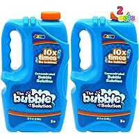 JOYIN 2 Refill Bubble Solutions; (up to 2.5 Gallon) Big Bubble Solution 32 Ounce Concentrated Solution for Bubble…