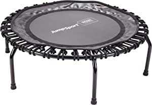JumpSport Home Fitness Trampoline   Professionals Choice   No-Tip Arched Legs   Quiet, Safe, Comfortable Bounce   40 Inch Frame Diameter, Black (35-1805)