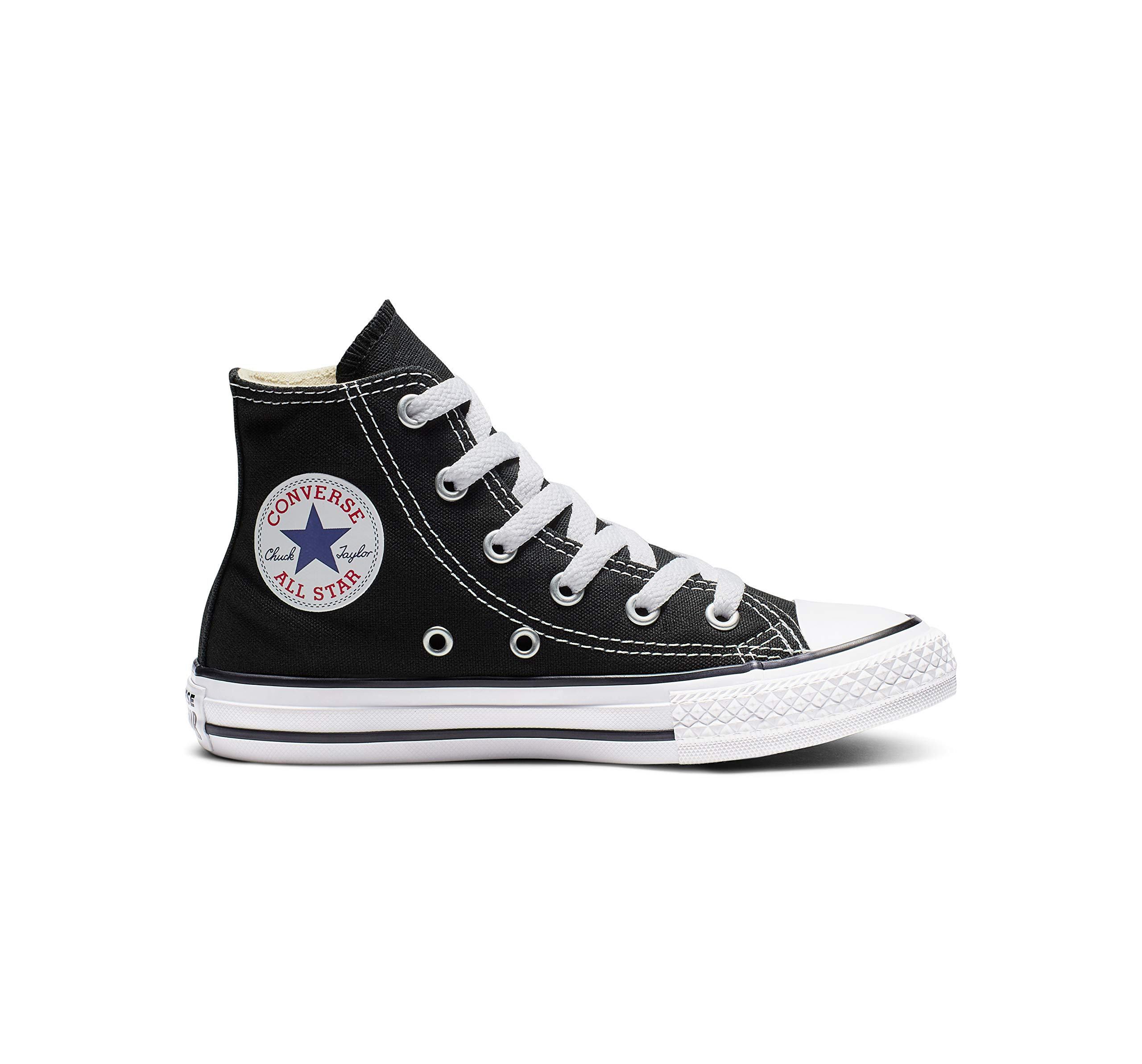 5979a5a0710de Converse Kid's Chuck Taylor All Star High Top Shoe, Black, 3 Little Kid  (4-8 Years)