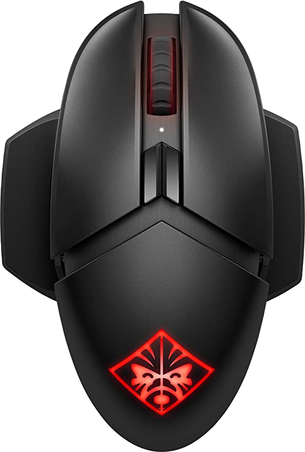HP Omen Photon Wireless Gaming Mouse, Optical-Mechanical Switches, 100-16000 DPI Optical Sensor, Customizable Buttons, RGB LED, Customizable Ergonomics, Up to 72 Hour Battery Life: Amazon.co.uk: Computers & Accessories