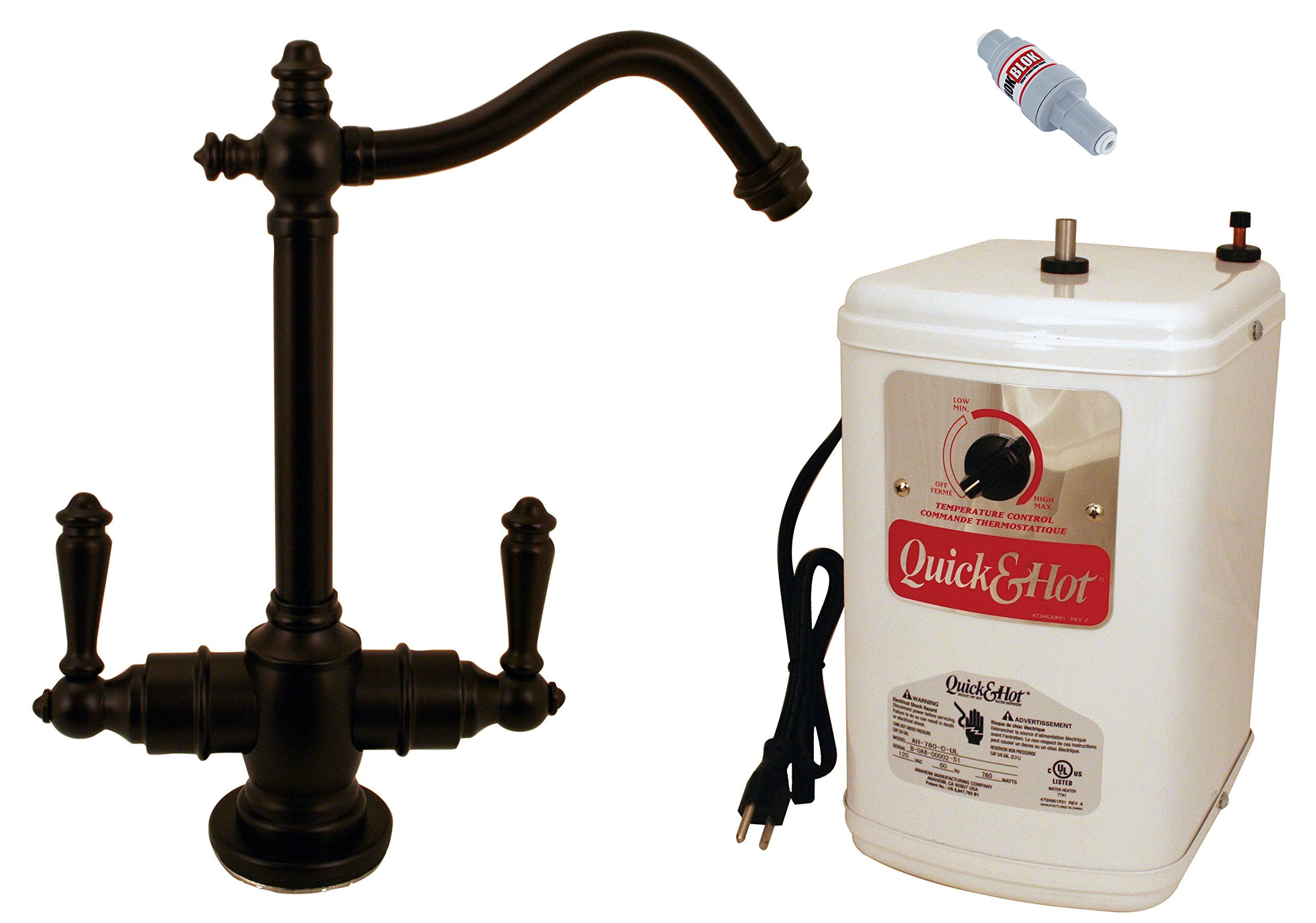 Westbrass D205HFP-12 Victorian Hot and Cold Water Dispenser and Tank 9'' Oil Rubbed Bronze