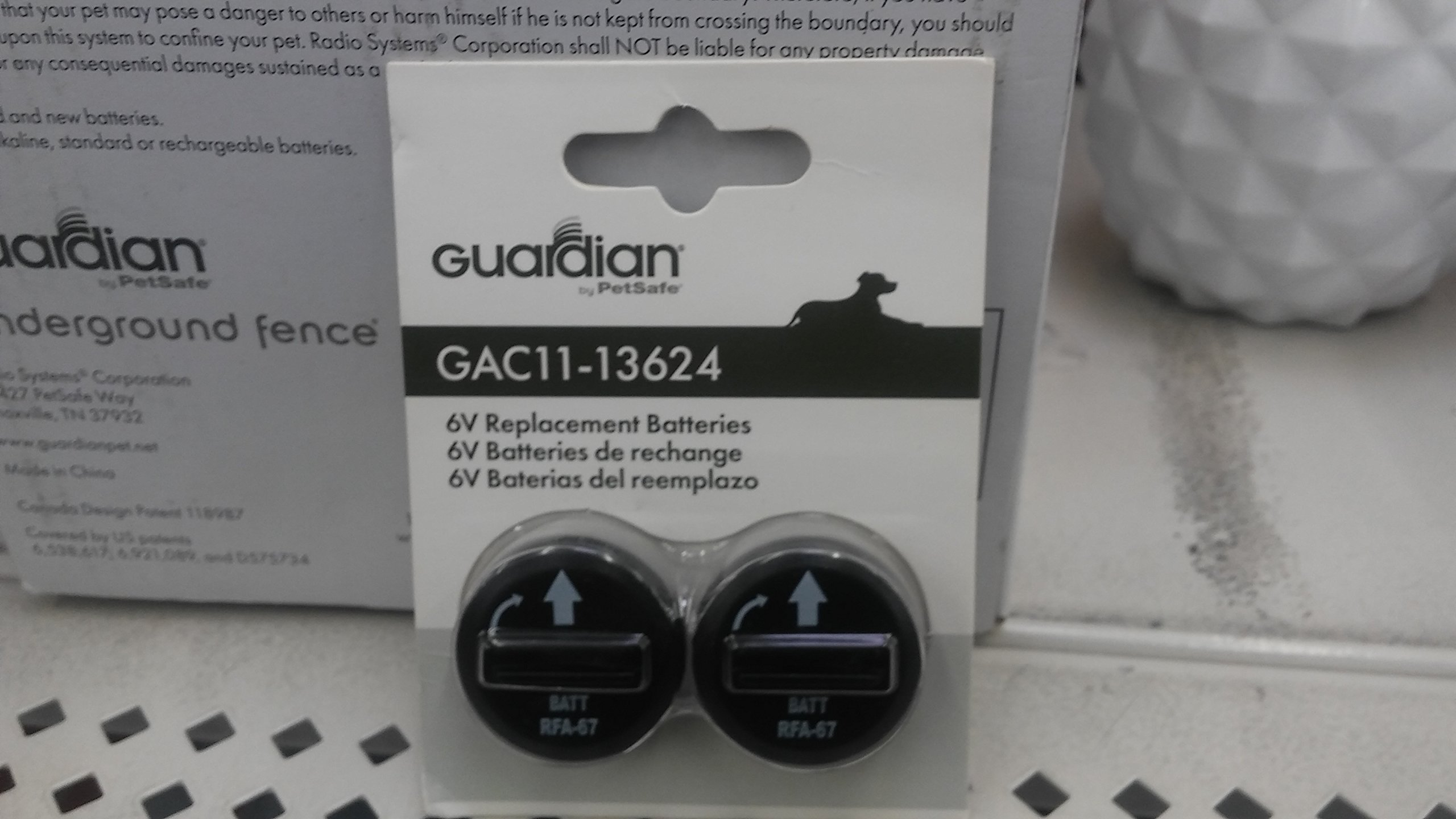 Guardian 6V Replacement Batteries 6-Volt GAC11-13624 For Dog Pet Collar 2-Pack