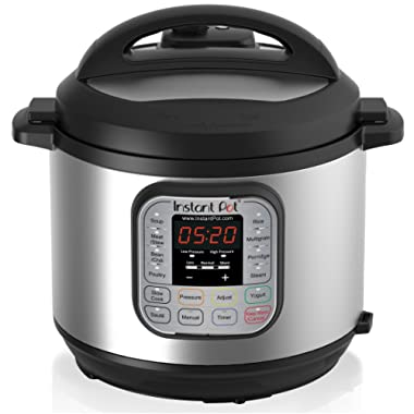Instant Pot Duo 60 321 Electric Pressure Cooker, 6 Quart, Stainless Steel/Black