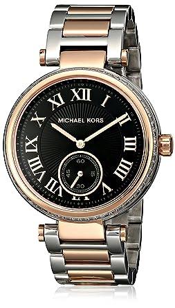 Michael Kors Womens Mk5957 Skylar Black Stainless Steel Watch