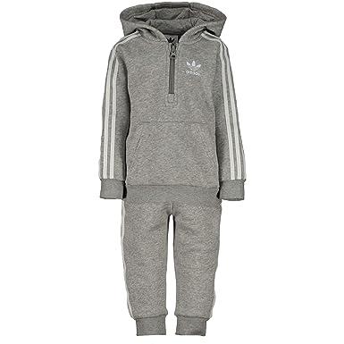 ad573c3df954c9 adidas Originals Baby Jungen (0-24 Monate) Sweatanzug Grau grau  Amazon.de   Bekleidung