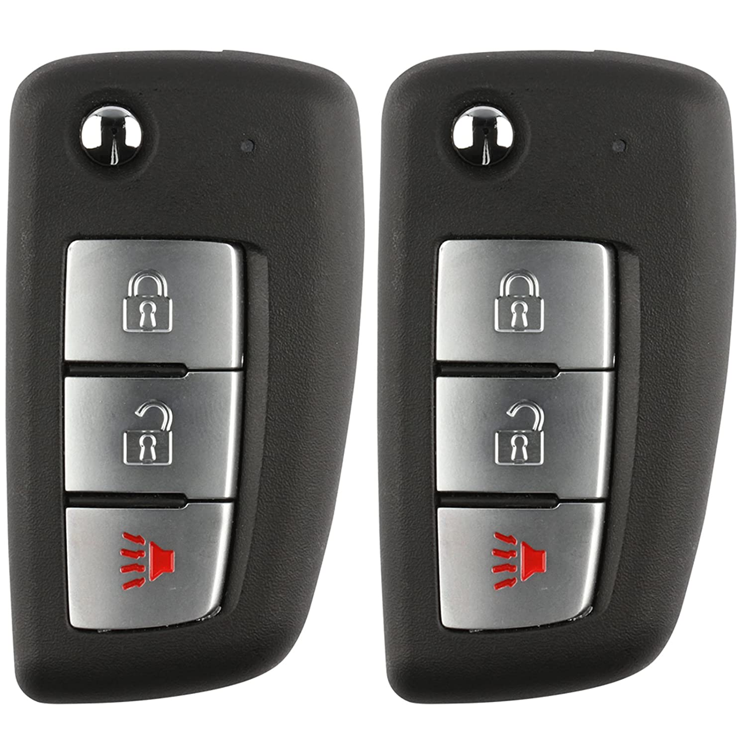 ID 46 CWTWB1U733 2 Pack NI04T Discount Keyless Replacement Uncut Car Remote Fob Key Combo Compatible with KBRASTU15 LYSB01I41I6V6-ELECTRNCS