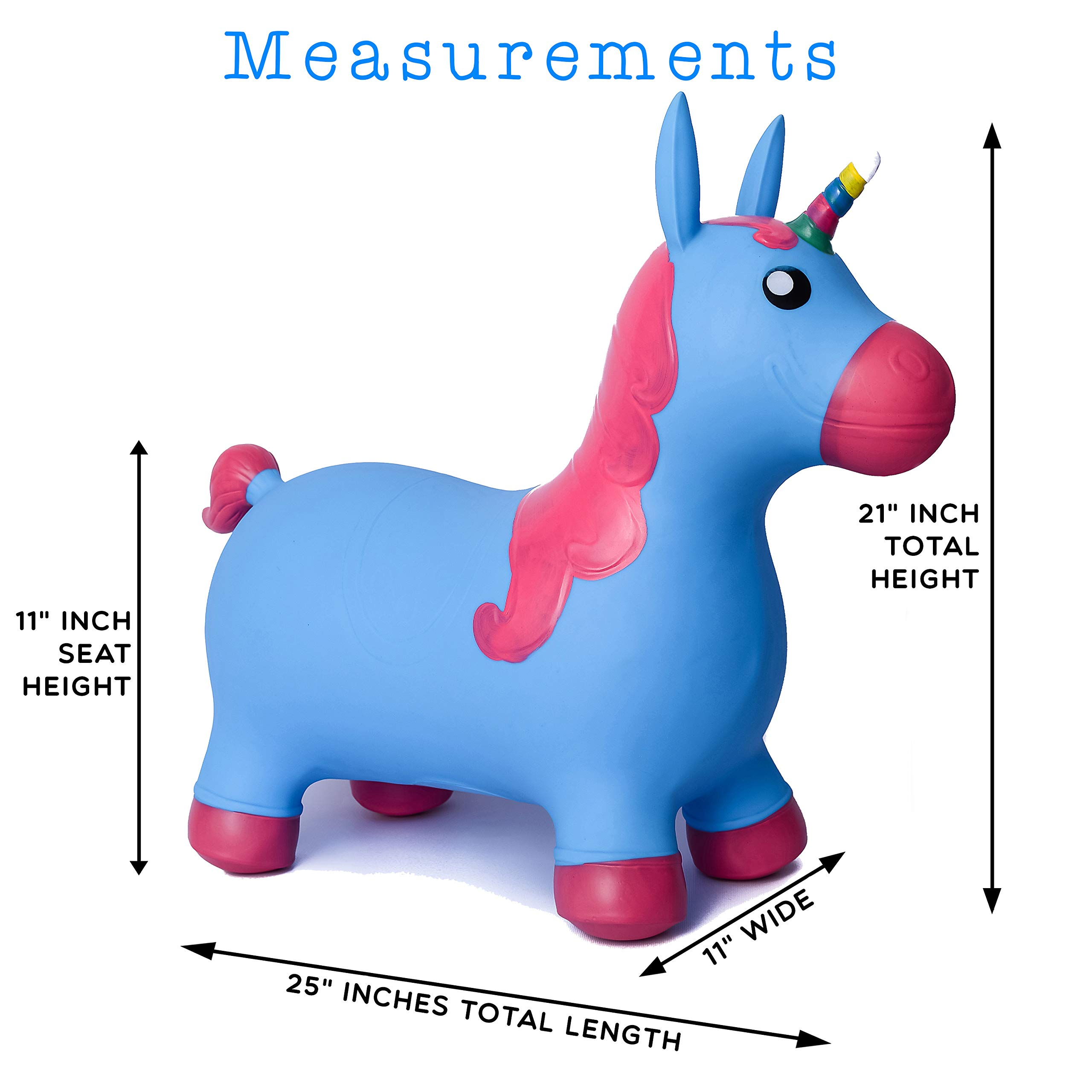 Kiddie Play Hopper Ball Unicorn Inflatable Hoppity Hop Bouncy Horse Toy (Pump Included) by Kiddie Play (Image #3)