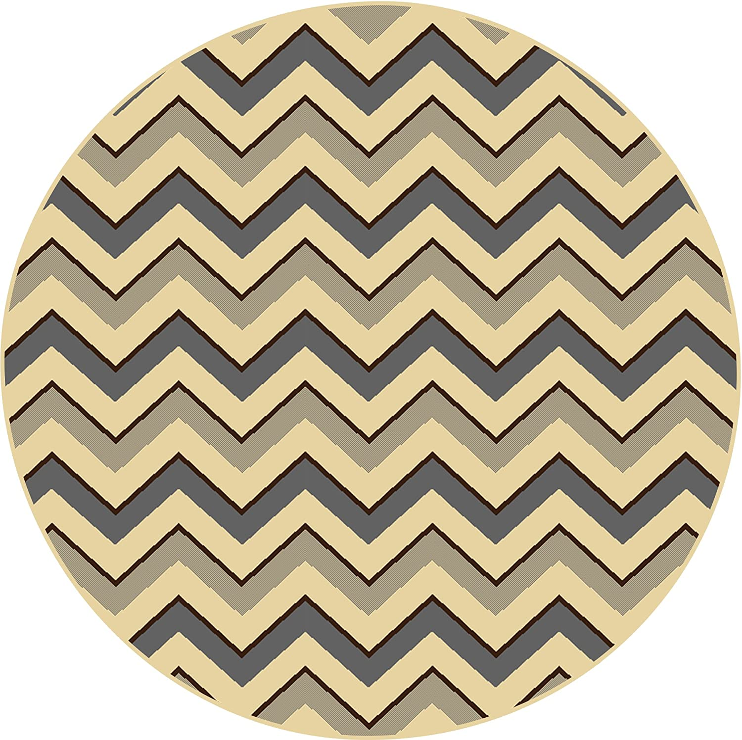 Home Dynamix Royalty Collection Oval Area Rugs, 31 by 50-Inch, Gray/Ivory