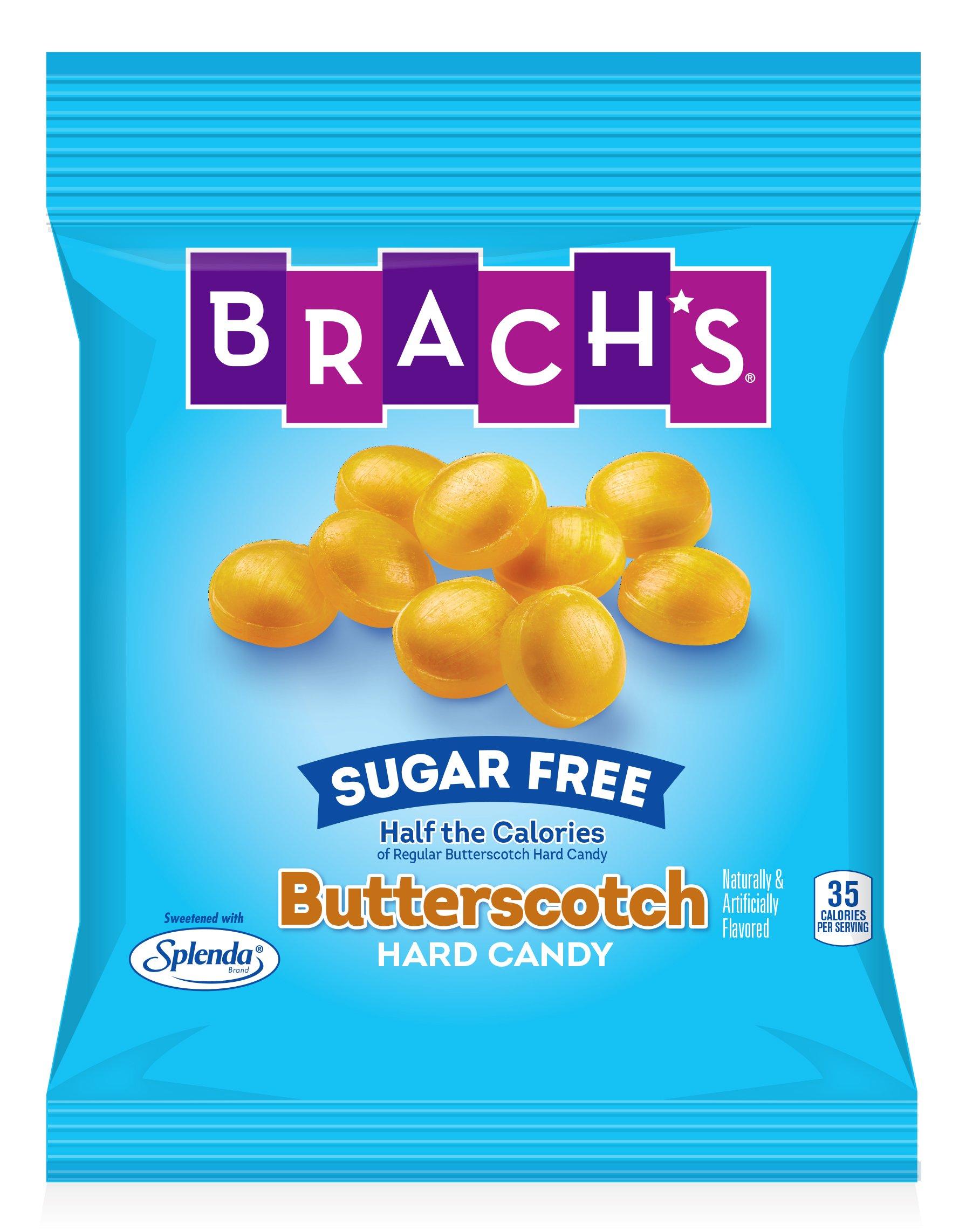 Brach's Sugar Free Butterscotch Hard Candy, 3.5 Ounce Peg Bag (Pack of 12) by Brach's