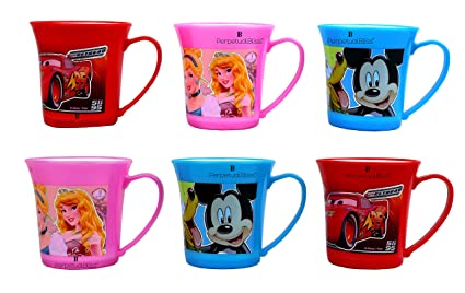 Buy Perpetual Bliss Pack Of 6 Fancy Disney Theme Milk Mugs For
