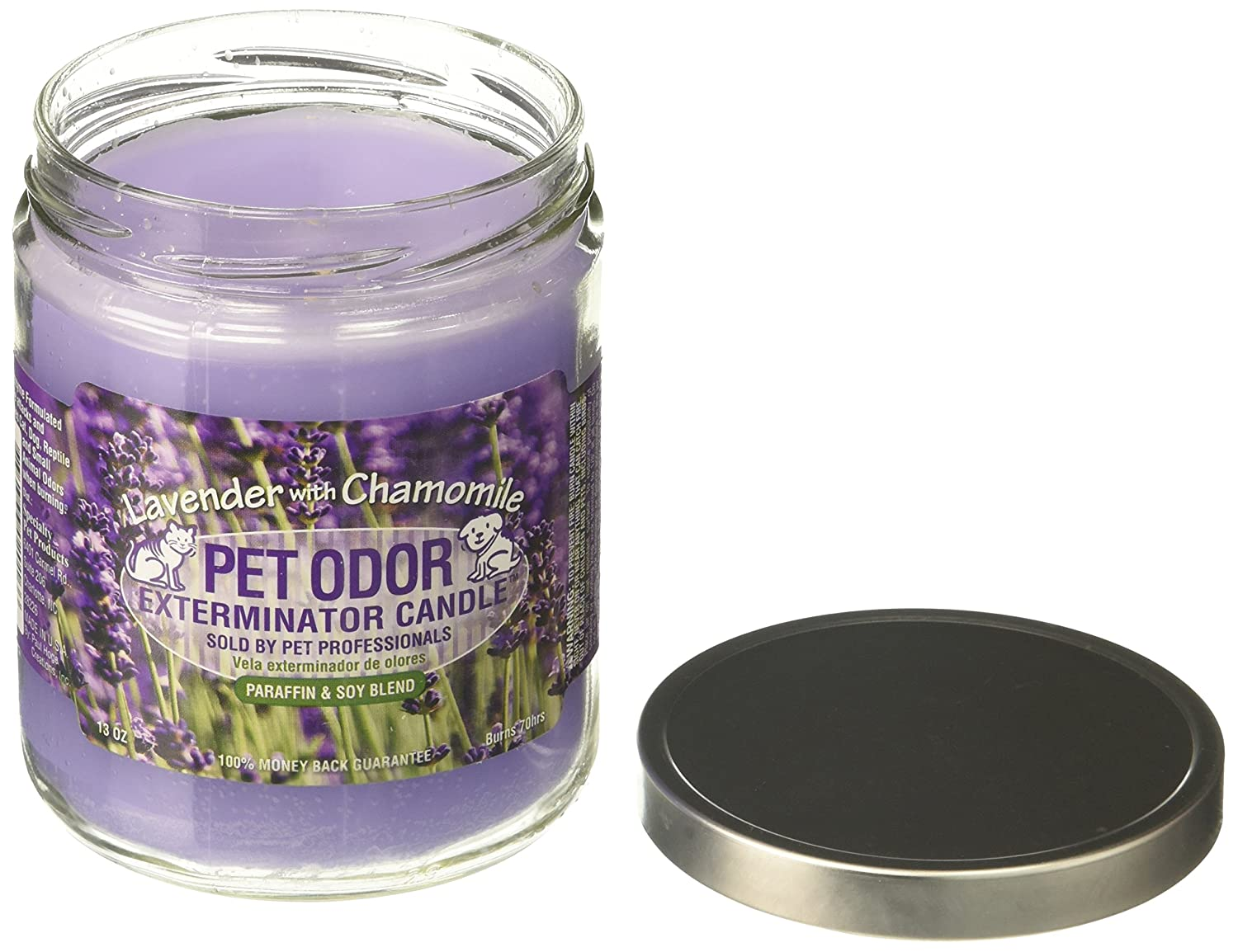 Lavender Pet Odor Exterminator Candle, Lavender with Chamomile,13 oz