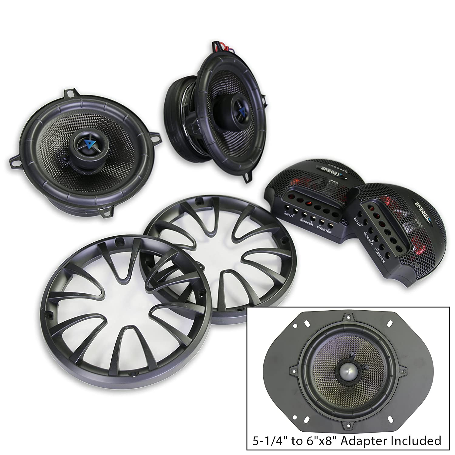 Energy ENC525CV2 Convertible 5-1/4' or 6'x8' 2-way Coaxial (Convertible to Component Speaker Systems). 1 Pair