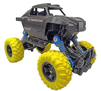 Popsugar Pull Back Rock Crawler Monster Truck with Rubber Wheels for Kids | Spring Shock…
