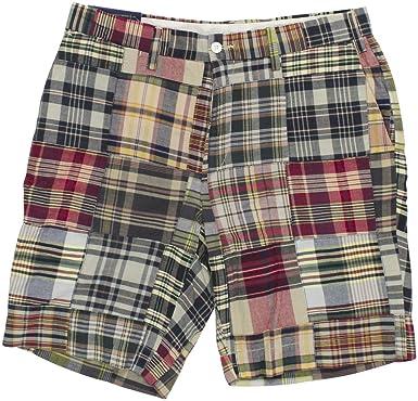 465901dc752f RALPH LAUREN Polo Mens Classic Fit 9 quot  Madras Patchwork Shorts Blue Red  Plaid (