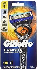 Gillette Fusion Proglide Men's 5 Blades Razor System - 1 Razor + 2 Cartridges