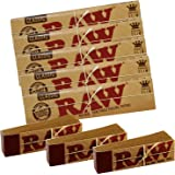 5 RAW Classic Kingsize Slim Rolling Papers & 3 Raw Tips