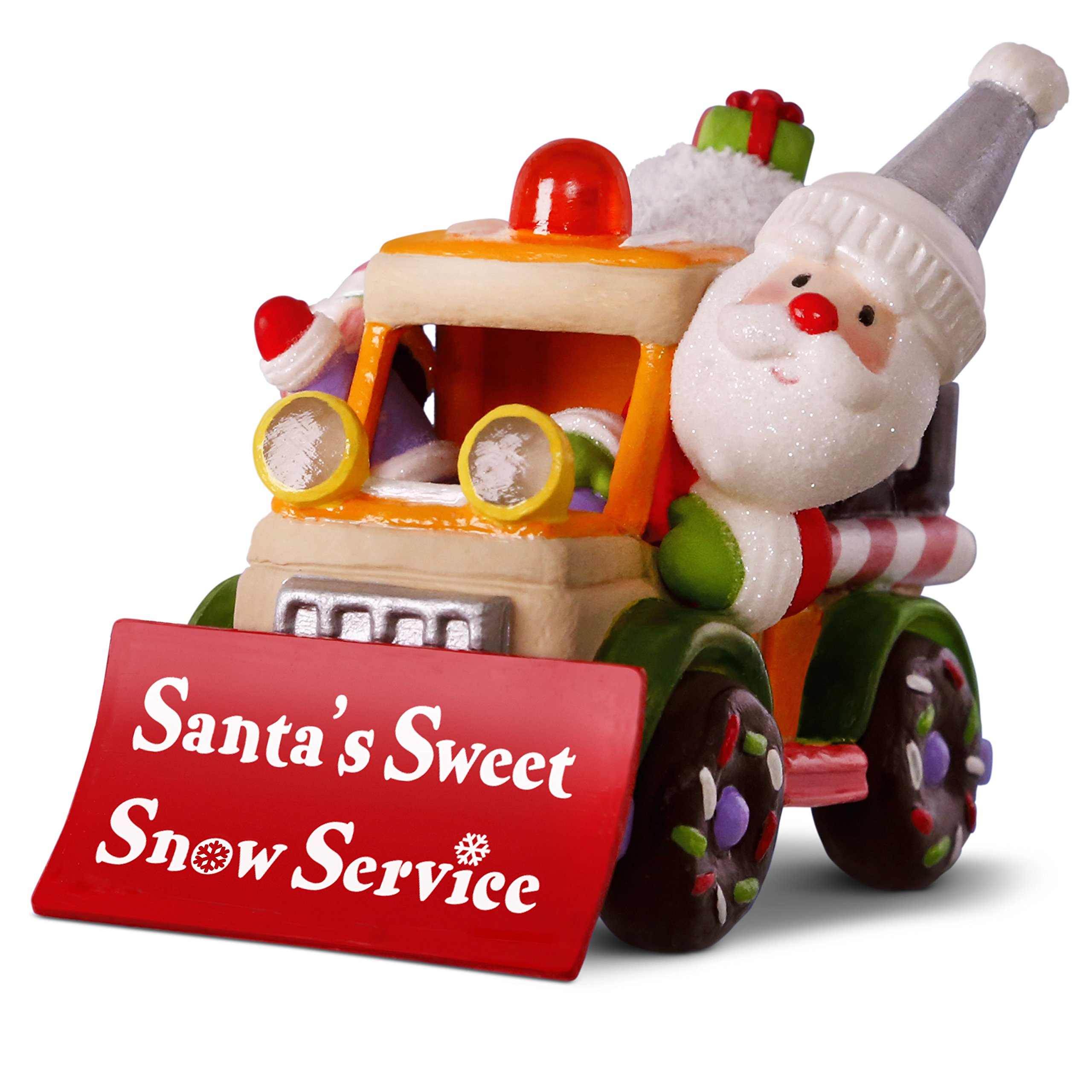 Hallmark Christmas Ornament Change Title Keepsake 2018 Year Dated, Santa's Sweet Snow Plow with Music and Light