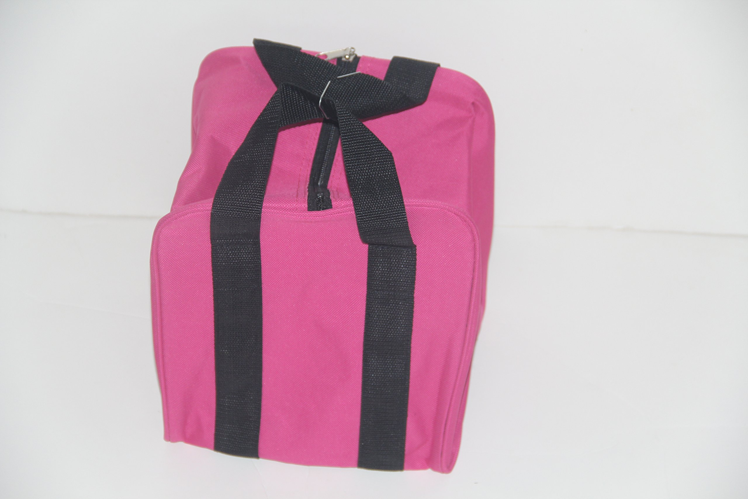 Premium Quality - Extra Heavy Duty Nylon Bocce Bag - Pink with Black Handles