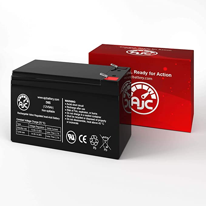 This is an AJC Brand Replacement APC Back-UPS 900VA 12V 9Ah UPS Battery