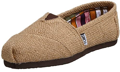 Toms Classic Natural Burlap Mujeres Canvas Alpargatas Zapatos Slipons: Amazon.es: Zapatos y complementos