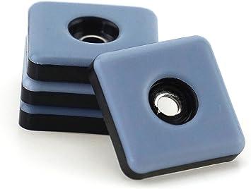 12 Stück Teflongleiter Ø 22 mm mit Schraube rund PTFE-Gleiter Möbelgleiter