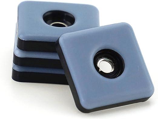 Möbelgleiter PTFE 24 x Teflongleiter selbstklebend eckig 25 x 25 mm