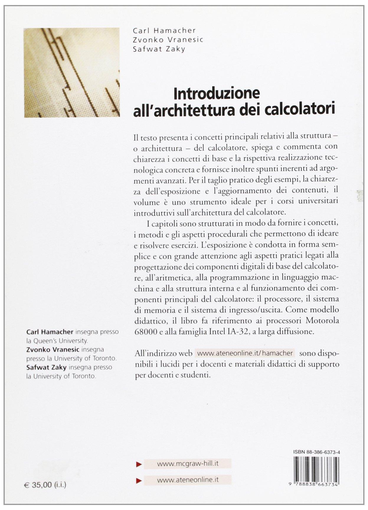 Mcgraw introduzione allarchitettura pdf hill calcolatori dei