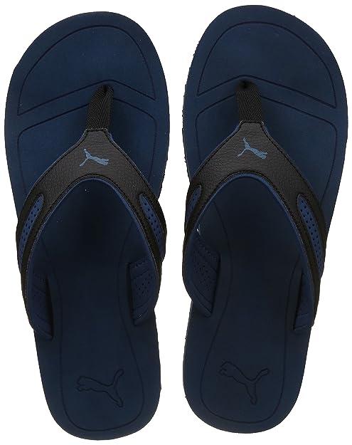6569dc4b9 Puma Men s Fling Tech Black-Mykonos Blue Flip Flops Thong Sandals-11 UK