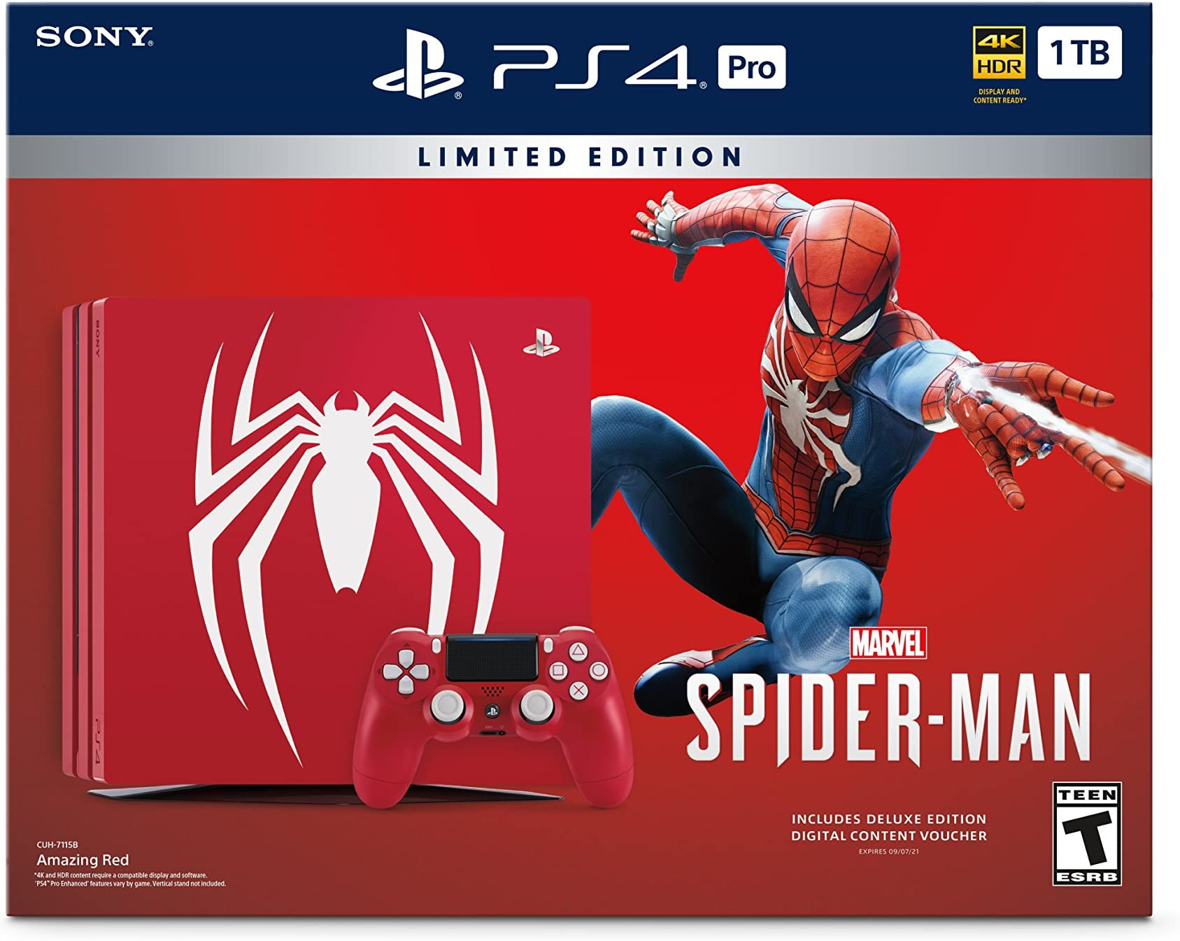 Moderate Price box Only Good Condition Spider-man Limited Edition Ps4 Pro 1tb Console