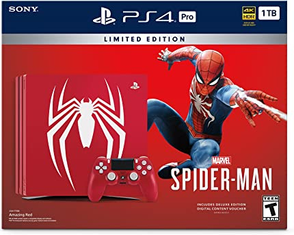 Good Condition Moderate Price Spider-man Limited Edition Ps4 Pro 1tb Console box Only