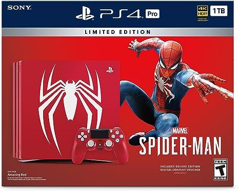 Sony Edición consola PlayStation 4 Pro 1 TB limitada - de Marvel Spider-Man Bundle [continuado]: Amazon.es: Videojuegos