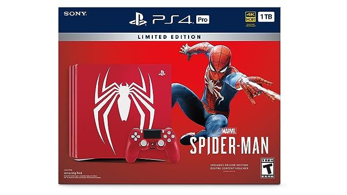 19fb98c73ea27 PlayStation 4 Pro 1TB Edition Console - Marvel s Spider-Man Bundle ...