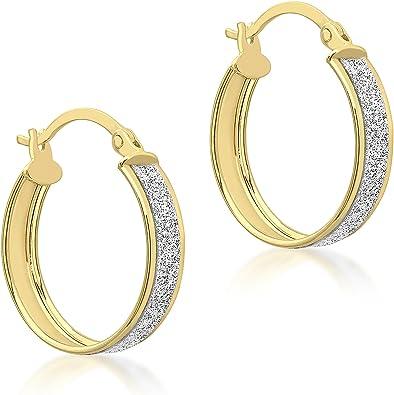 Carissima Gold Cr/éoles Femme 375//1000 9/cts