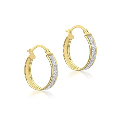 Carissima Gold Women's 9 ct Yellow Gold Band Creole Earrings MCWoOHVLFJ