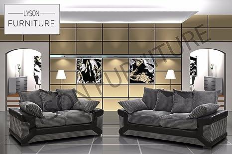 Lyson Furniture Dino Sofá Marca Tela salón sofá, Grey ...