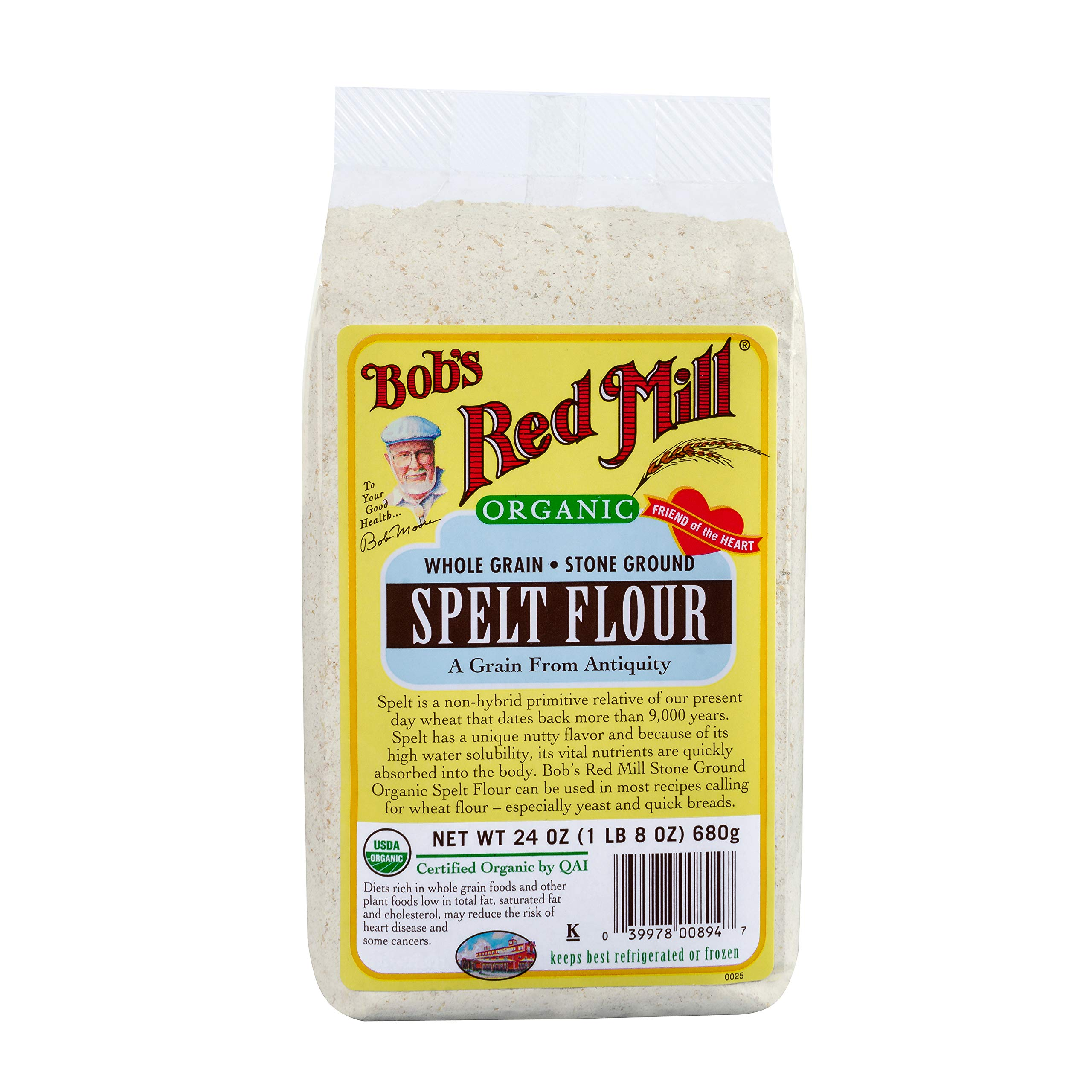 Bob's Red Mill Organic Spelt Flour, 24-ounce (Pack of 4) by Bob's Red Mill (Image #1)