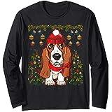 Amazoncom Basset Hound Dog Ugly Christmas Sweater Xmas Clothing