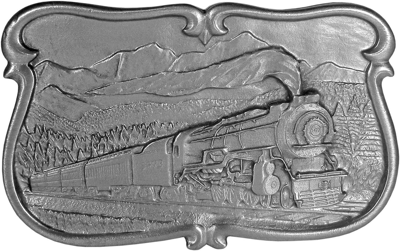 Locomotive Antiqued Belt Buckle