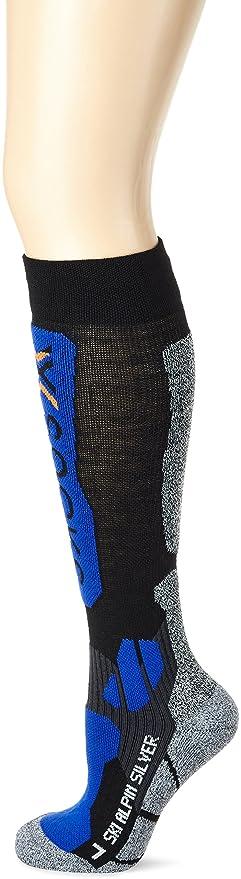 X-Socks Calcetines de esquí Alpino Black/Cobalt Blue Talla:35/38