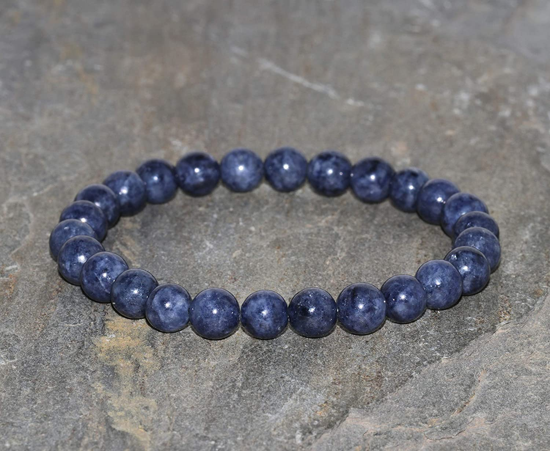 Sapphire Bracelet Handmade 6mm Dark Blue Sapphire Gemstone Bracelet Natural Sapphire Bracelet Stacking Bracelet Unisex Jewelry Hope Bracelet Genuine Blue Sapphire Beads