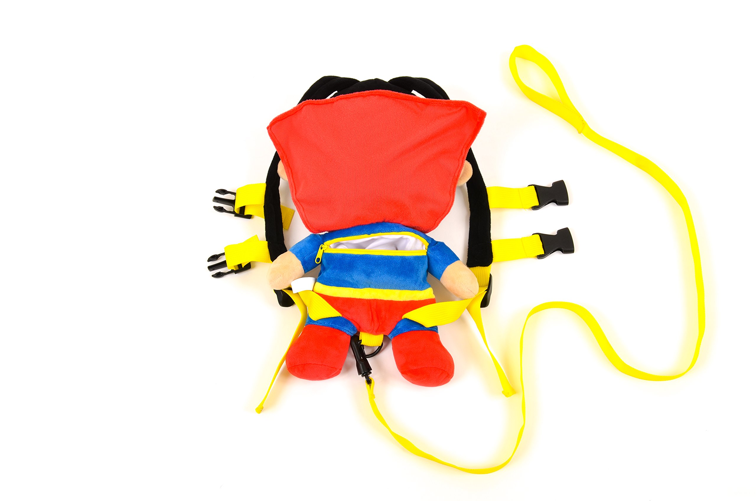 KidsEmbrace Superman Safety Harness Backpack, DC Comics 2 in 1 Harness Buddy, Red by KidsEmbrace (Image #3)