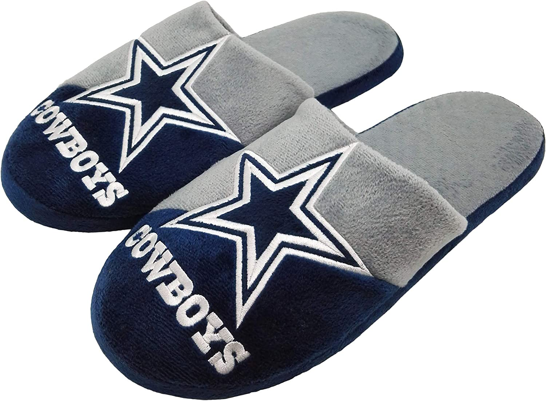 Dallas Cowboys Split Color Slide Slipper Large
