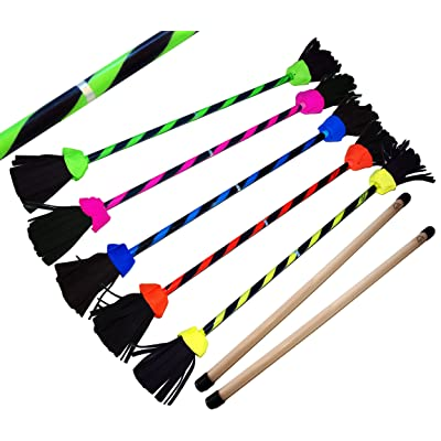 FLASH Pro Flower Stick Set (5 Colours) Silicone Coated Flowerstick & Handsticks! Suprime Quality, Fiberglass Shaft, Silicone Grip, Suede Tassels, Fastening Strap.PRICE IS FOR ONE STICK(UV Blue): Toys & Games