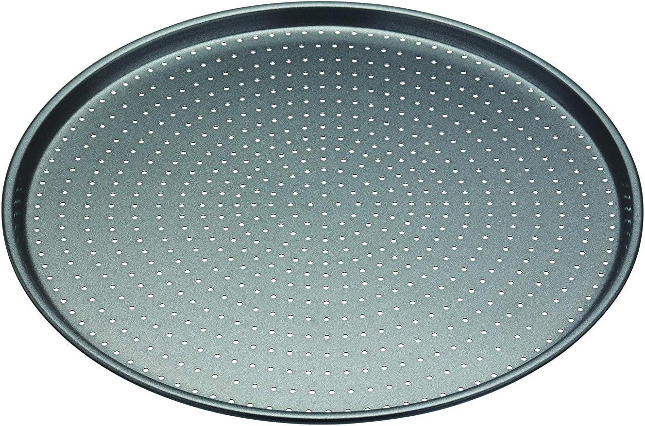 masterclass Bandeja para Pizza, Aluminio, Gris, 32x32x3 cm