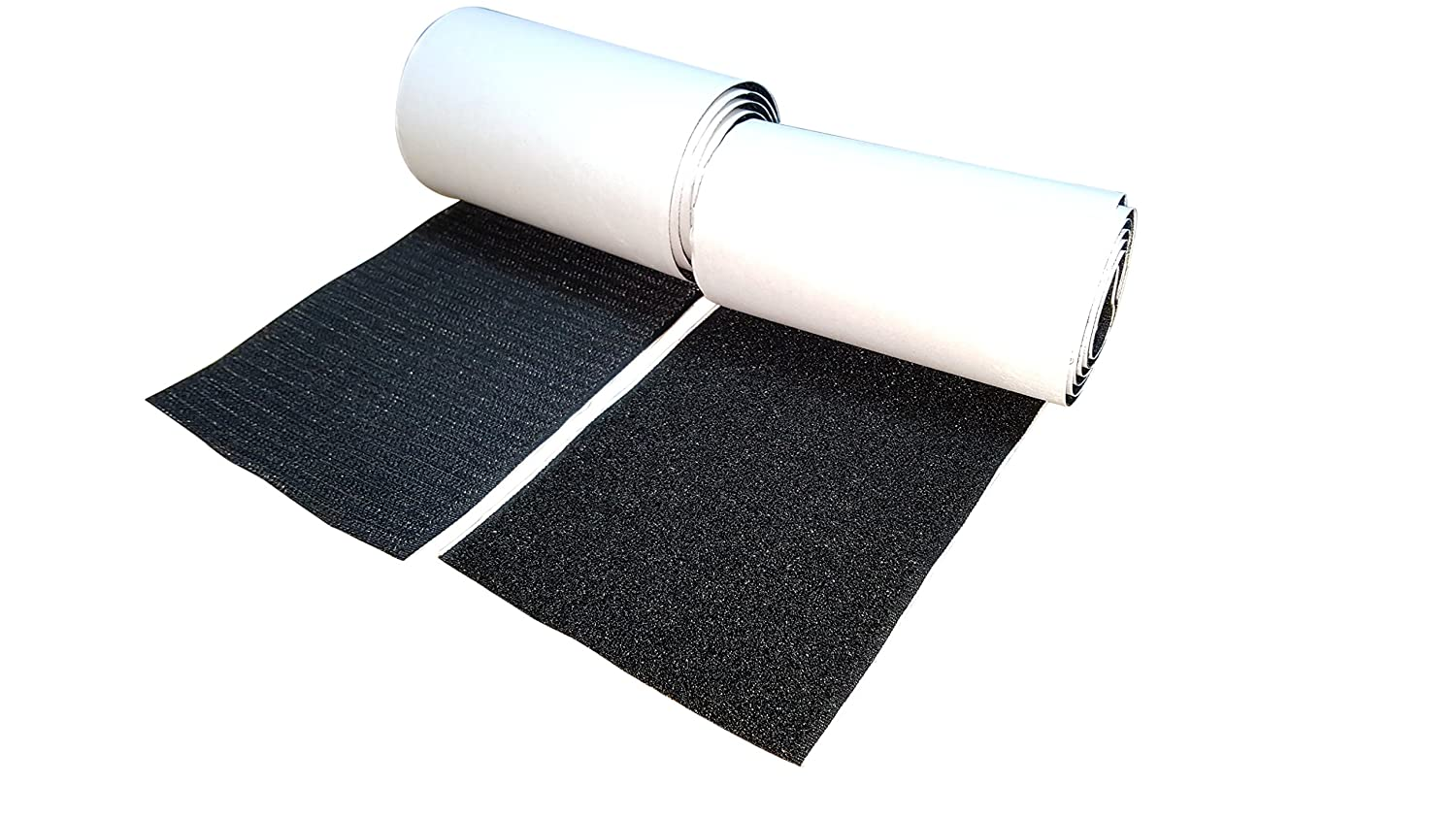 10CM Wide(Approx 4) 1 Meter Long Self Adhestive Hook And Loop Strips Set With Super Sticky Glue Nylon Fabric Fastener Black Hongxin LAttice DR-102