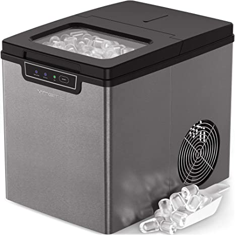 Strange Vremi Countertop Ice Maker Ice Cubes Ready In 9 Minutes Makes 26 Pounds Ice In 24 Hrs Perfect For Water Bottles Mixed Drinks Portable Download Free Architecture Designs Scobabritishbridgeorg