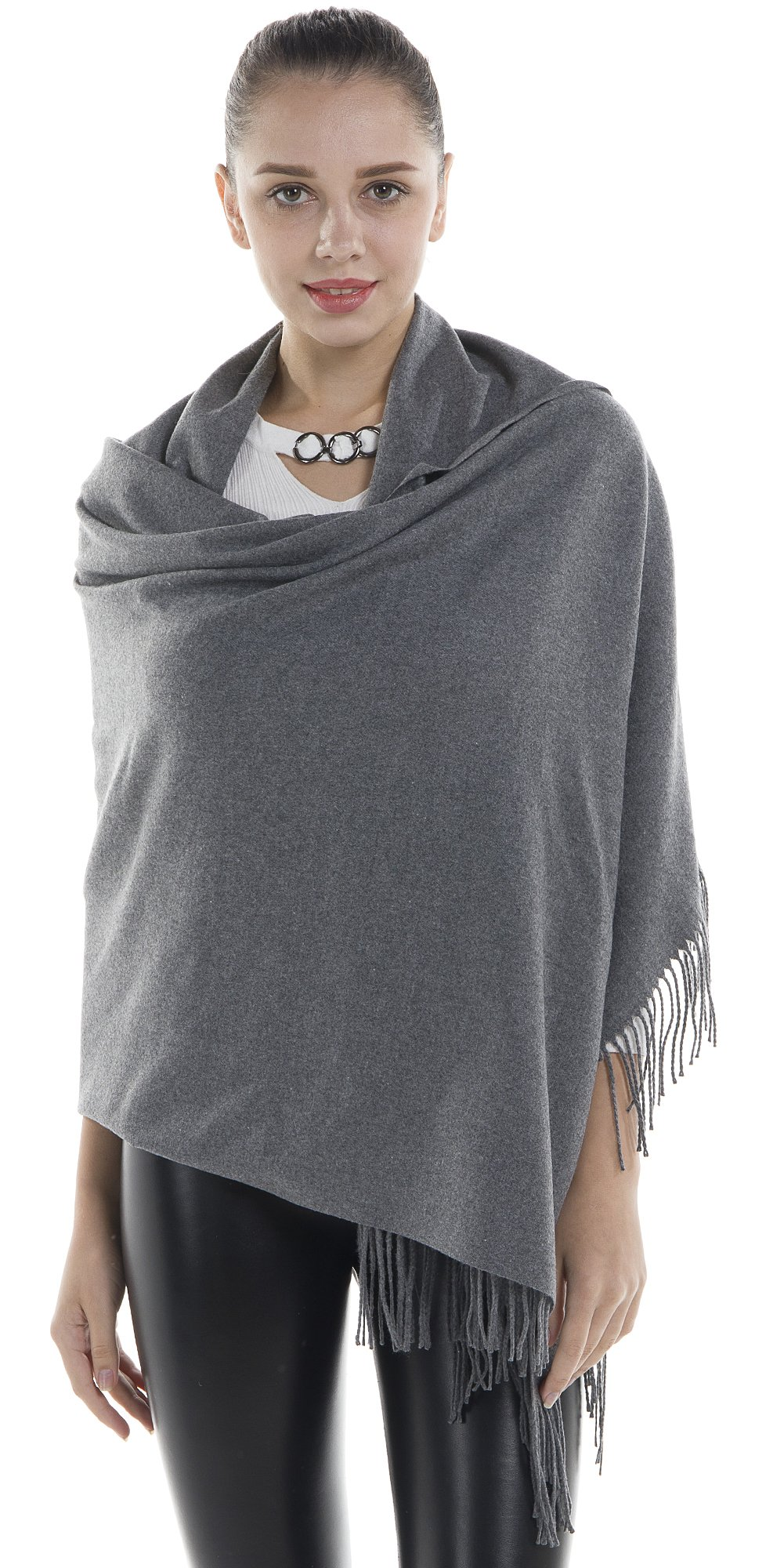 Niaiwei Women Scarf Plaid Blanket Scarves Wraps Shawl winter Cashemere scarf (Dark Grey)