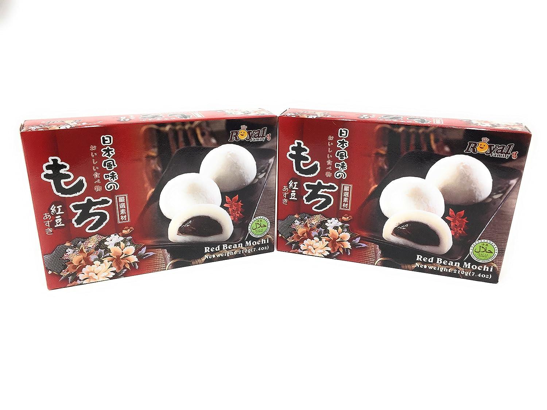 2x Royal Family Japanese Rice Cake Mochi Daifuku (Red Bean), 7.4 Ounce