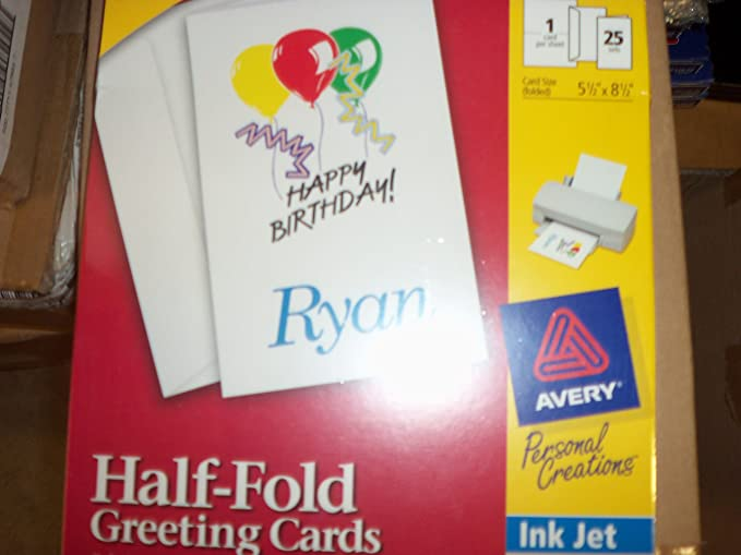 Amazon avery 3297 half fold greeting cards 25 cards to the amazon avery 3297 half fold greeting cards 25 cards to the package office products m4hsunfo