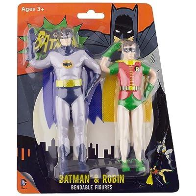 NJ Croce DC Comics Batman and Robin Bendable Figure: Toys & Games